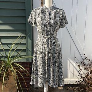 Nanette Lepore Fit & Flare Leopard Shirt Dress